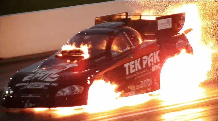 Dragsters Blown Up in Slow Motion