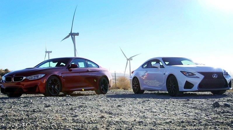 Lexus RC F neemt het op tegen BMW M4
