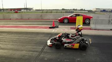 CRG Schakelkart verslaat Ferrari 360 Challenge Stradale