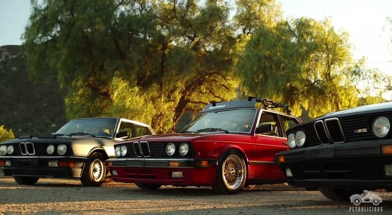 Dit hele gezin rijdt BMW E28 5-Series