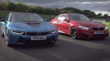 Track Battle: BMW I8 zit M4 op de hielen