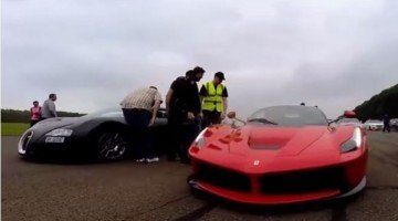 LaFerrari vs Bugatti Veyron Dragrace