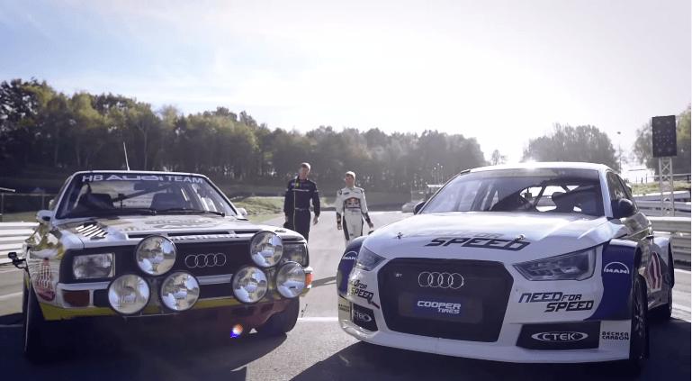Walter Röhrl neemt plaats in de Audi S1 EKS RX quattro