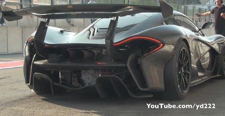 McLaren P1 GTR gefilmd op Spa-Francorchamps