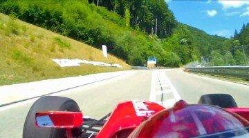 Overstuur bij 220 km/h tijdens St.Ursanne hillclimb