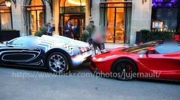 Bugatti Veyron L'or Blanc geeft Laferrari een kusje