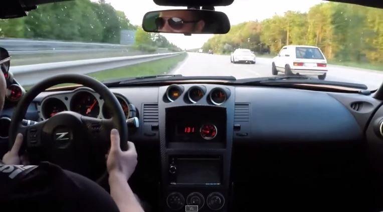Golf MK1 trolt Porsche 991 GT3 en Nissan 350Z