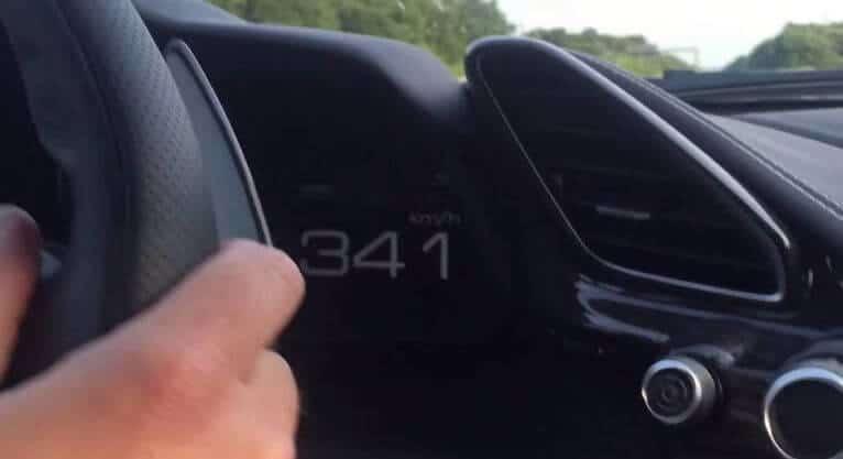 Ferrari 488 GTB tikt 341 km/h aan