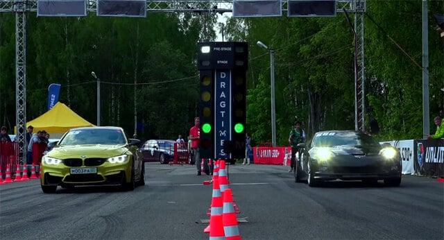 BMW M4 verslaat een 720 pk sterke Corvette ZR1