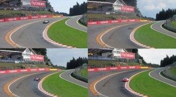 F1 vs GP2 vs GP3 vs Porsche Supercup at Eau Rouge