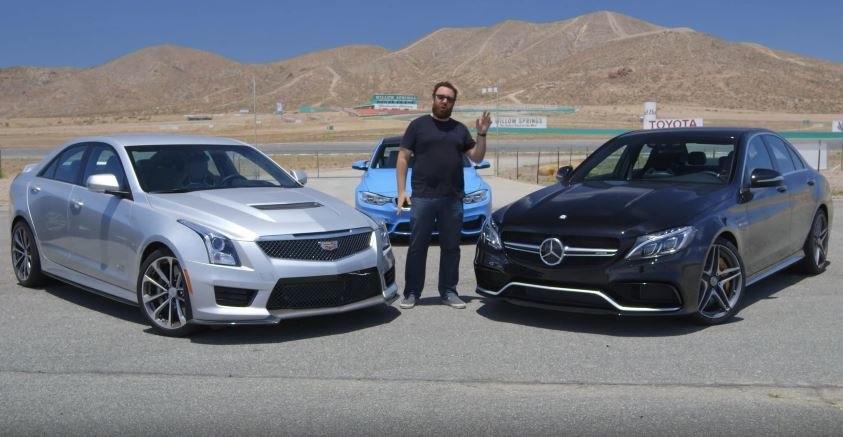 Cadillac ATS-V vs Mercedes C63 AMG S
