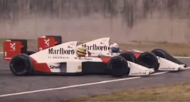 Senna vs Prost Suzuka 1989