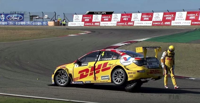 WTCC China Coronel Crash