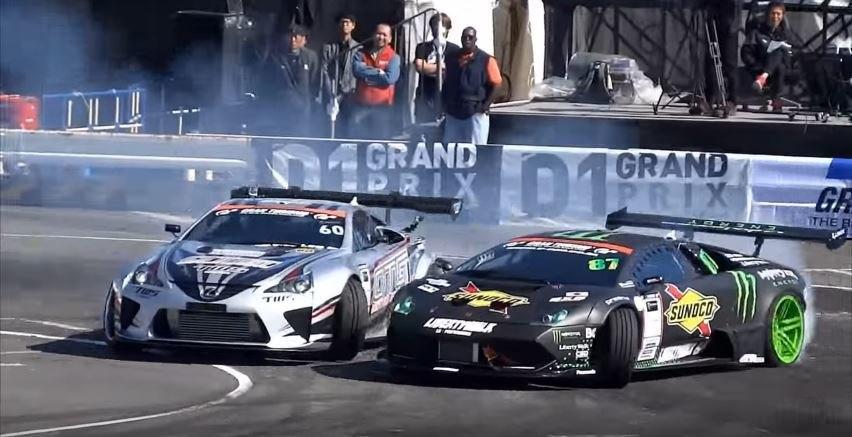 Drift Murcielago vs Lexus LFA