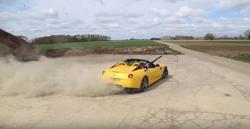 kleiduiven schieten Ferrari 599 SA