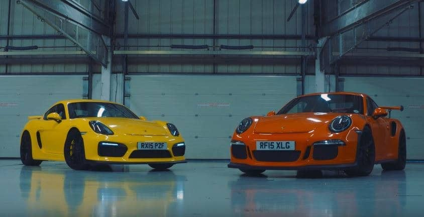 Cayman GT4 vs 911 GT3 RS