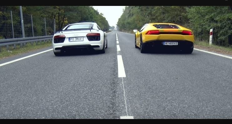 Audi R8 V10 Plus vs Lamborghini Huracan