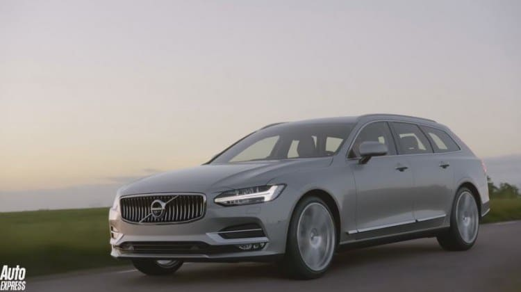 video de nieuwe volvo v90 komt met een 410 pk sterke t8. Black Bedroom Furniture Sets. Home Design Ideas