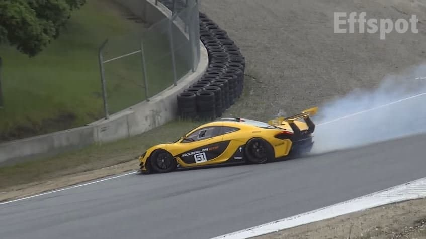 McLaren P1 GTR spint in Corkscrew