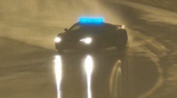 Audi R8 Safety Car legt een perfecte drift neer