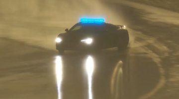 Audi R8 Safety Car legt een perfecte drift neer
