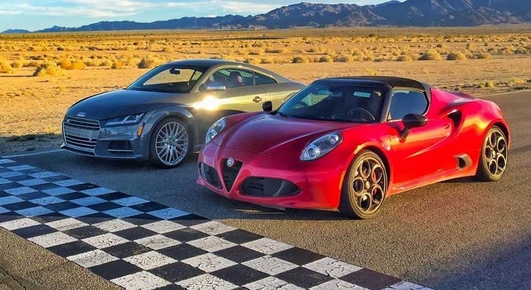Head 2 Head - Alfa Romeo 4C Spider vs Audi TTS