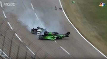 Heftige crash voor Newgarden tijdens