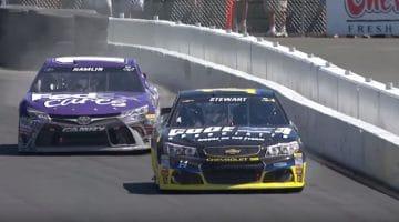 Laatste rondje gaat in typische NASCAR-style op Sonoma