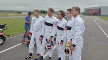 Drie generaties van McLaren-coureurs gaan karten