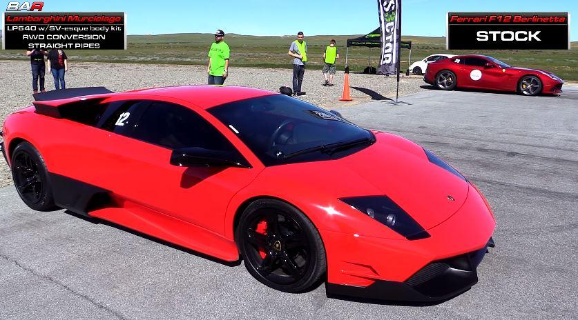 Lamborghini Murcielago LP640 vs Ferrari F12 Berlinetta