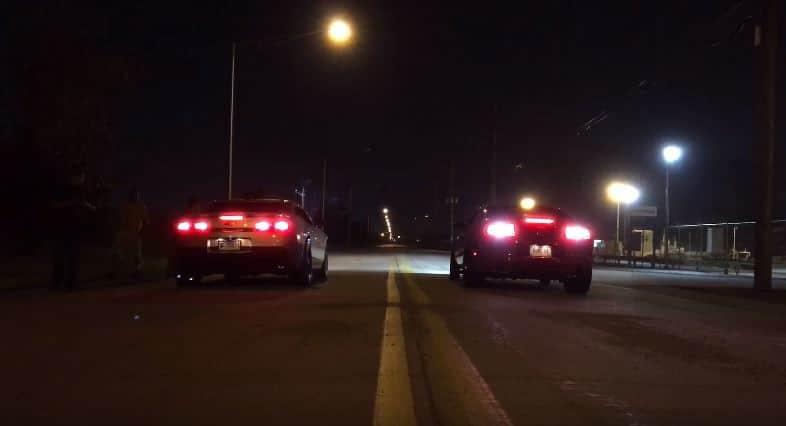 Mustang vs Camaro Dragrace