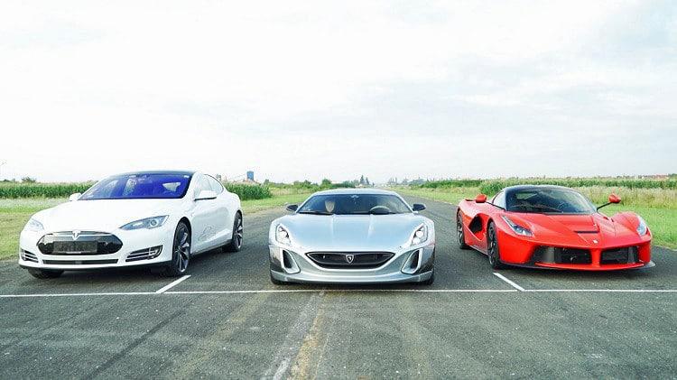 Rimac vs Laferrari vs Tesla Model S