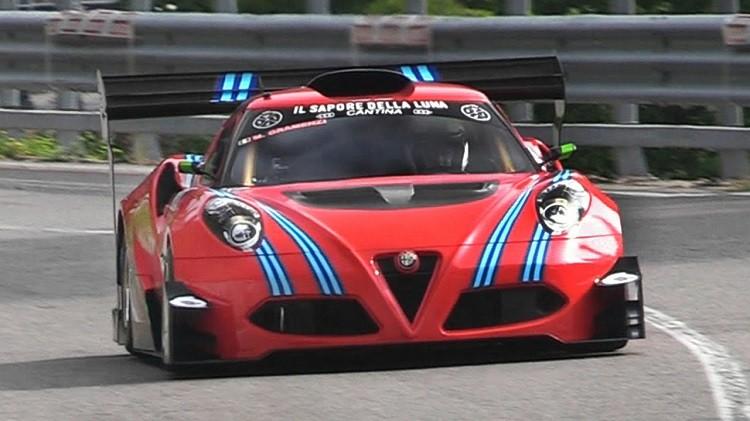 Alfa Romeo 4C hillclimb monster