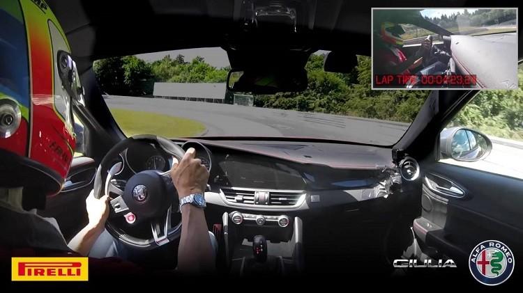 Alfa Romeo Giulia Quadrifoglio klokt Nordschleife in 732 min