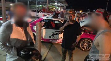 Lambo-eigenaar deelt klappen uit nadat hij heeft verloren van R32 Skyline