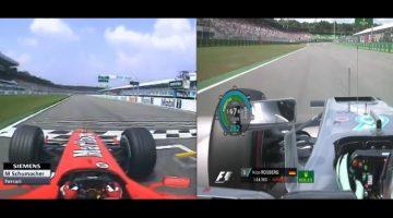 Schumacher 2004 vs Rosberg 2016 - Hockenheim pole vergelijking