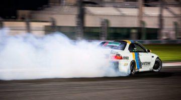Luke Fink's BMW E46 V10 Driftauto is een screamer