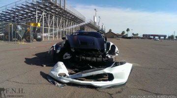 Man probeert verzekering op te lichten na crash op dragstrip
