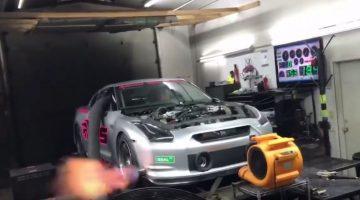 Zie hoe een 3.000 pk Nissan GT-R voluit gaat op de dyno