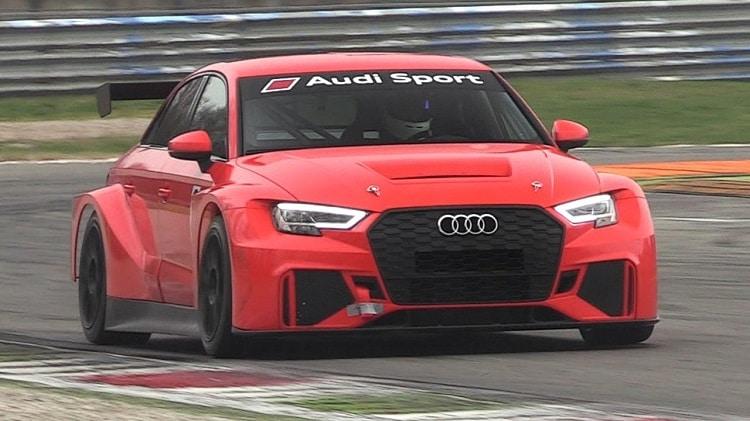 Audi RS3 LMS TCR Test op Monza