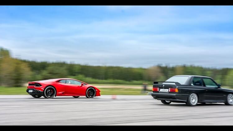 BMW E30 V10 vs Lamborghini Huracán V10