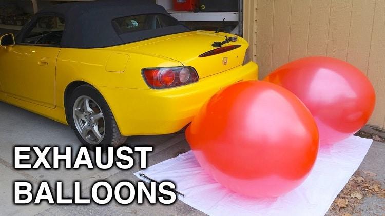 Blaas eens twee ballonnen op met een Honda S2000