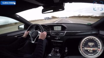 Mercedes E63 AMG Top Speed Run