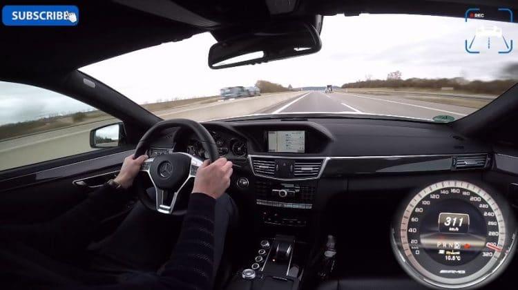 Mercedes E63 AMG Top Speed Run