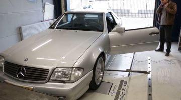 Mercedes SL60 AMG op de rollenbank