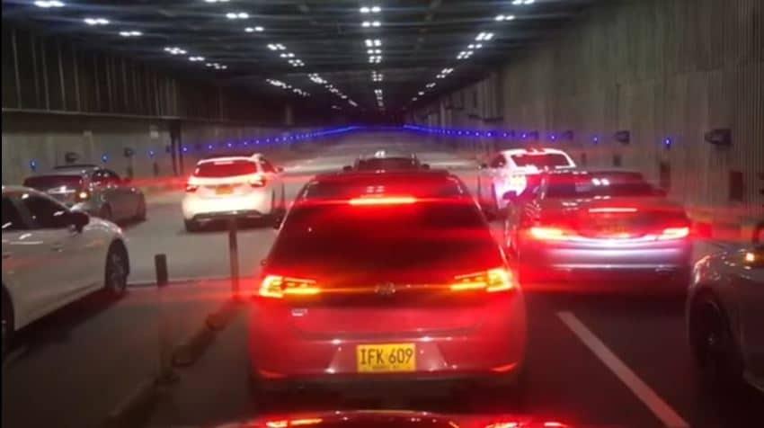 Straatrace in Tunnel eindigt met klapper