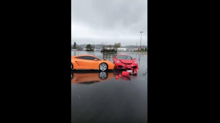 Ferrari knalt op Lamborghini tijdens Driving Experience