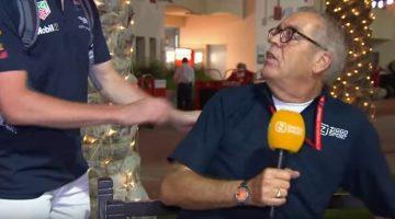 Max Verstappen pest Olav Mol tijdens uitzending