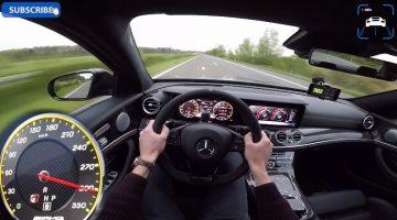 2017 Mercedes-AMG E63 S sprint naar topsnelheid van 302 kmh