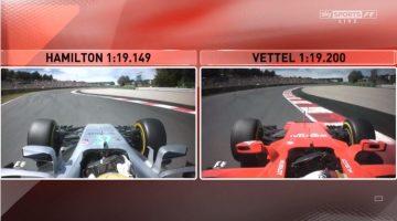 Analyse van Hamilton en Vettel's Q3 lap